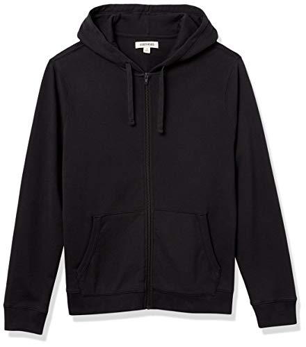 Amazon Brand - Goodthreads Men's Lightweight French Terry Fullzip Hoodie Sweatshirt, Black, Small