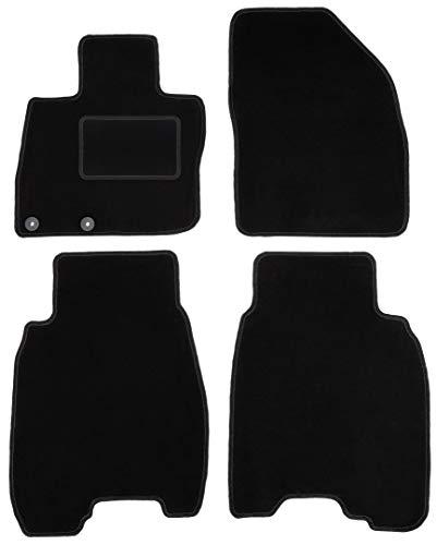 Wielganizator Carlux - Alfombrillas de terciopelo para Honda Civic VIII Hatchback 2006-2012, 4 piezas, color negro