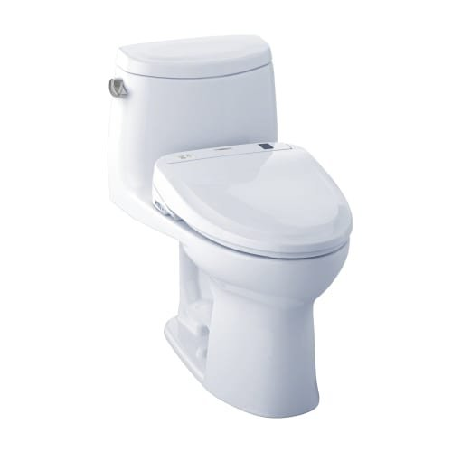 Toto WASHLET+ Kit UltraMax II 1-Piece Elongated 1.28 GPF Toilet and WASHLET S300e Bidet Seat, Cotton White (MW604574CEFG#01)