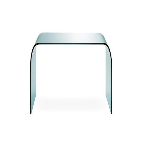 Fontana Tisch/Couchtisch, transparent Glas 60x40cm