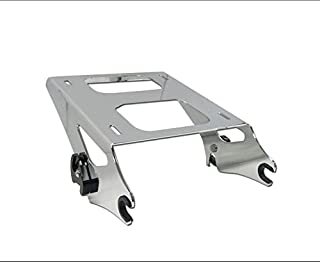 HK MOTO- Chrome Detachable 2 Two Up Tour Pak Pack Mounting Luggage Rack For Harley Touring Road King Street Glide Road Glide 2014-2016