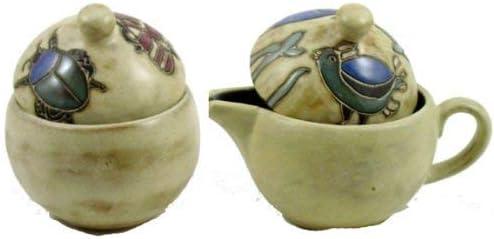 Mara Ceramic Stoneware Desert Small Creamer and Sugar Set