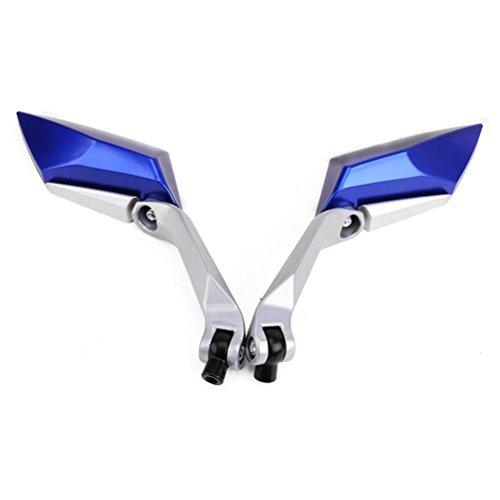 ROSENICE Motorrad Spiegel 360 Grad rotierende Motorrad Rückspiegel Seite Spiegel ein paar (blau)
