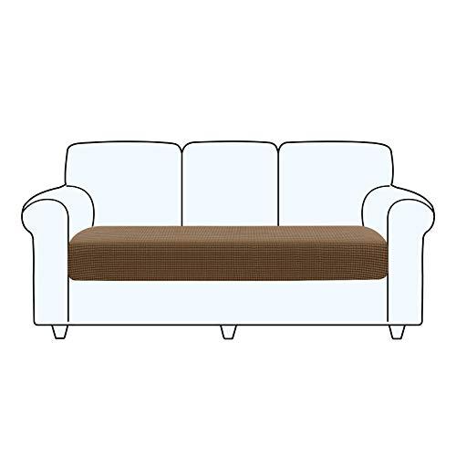 TAOCOCO Fundas de cojín para sofá,Protector de cojín de Asiento de Tela de poliéster de Alta Elasticidad (marrón pálido, 3 Asientos)