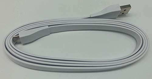 USB Ladekabel für Logitech Bluetooth Lautsprecher (UE Boom, UE Boom 2, UE MEGABOOM, UE MEGABOOM 3, UE Blast, UE MEGABLAST, UE WONDERBOOM, UE WONDERBOOM 2), weiß, 1,2 m
