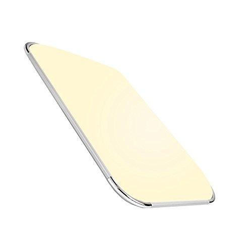 Hengda 48W LED Deckenleuchte Panel Alu-matt Schlafzimmer Wohnzimmer Warmweiß 3840LM Sparsame Dauerbeleuchtung