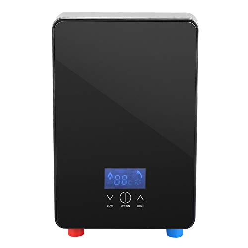 Hongzer Durchlauferhitzer, 220V 6500W LED-Temperaturanzeige Tankless Sofortiger elektrischer Heißwasserbereiter mit wasserloser Abschaltautomatik zum Zuhause, Badezimmer, Dusche, Küche
