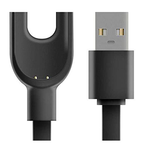 Cavo di Ricarica USB per Xiaomi Mi Band 3 SIKAI Portatile Carica Magnetica Stazione di Ricarica Charger Magnetic per Braccialetto Smart Xiaomi Band 3 (Nero)
