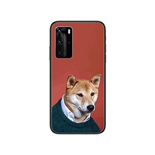 Perro moda personalidad creativa niños teléfono caso para Huawei P 40 30 20 10 9 8 Lite E Pro Plus negro Etui Coque pintura hoesjes-1-Huawei P40