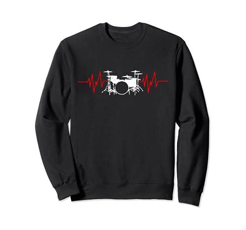 Schlagzeuger HeartBeat Drummers Percussionist Sweatshirt