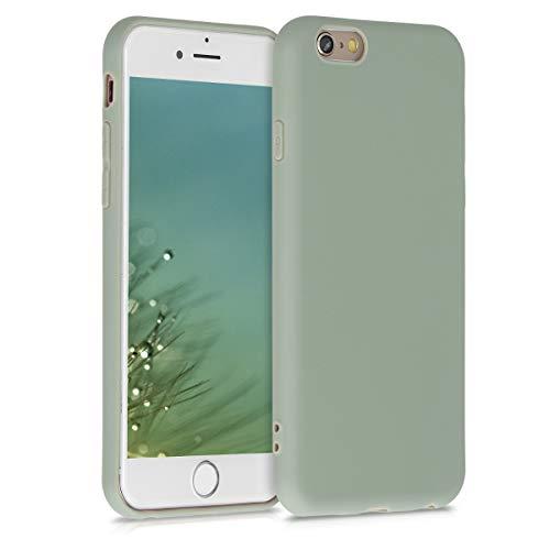 kwmobile Cover Compatibile con Apple iPhone 6 / 6S - Custodia in Silicone TPU - Backcover Protezione Posteriore- Verde Grigio