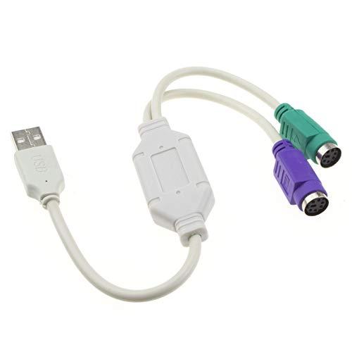 USB a Dual PS2 Active Adaptador Teclado & Ratón Cable Cable