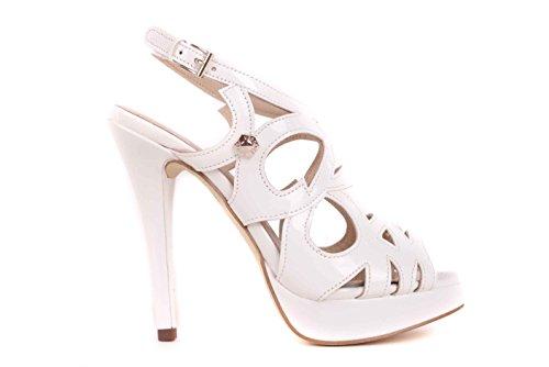 Versace Damen Pumps Riemchensandalen Stilettos (Creme, Numeric_40)