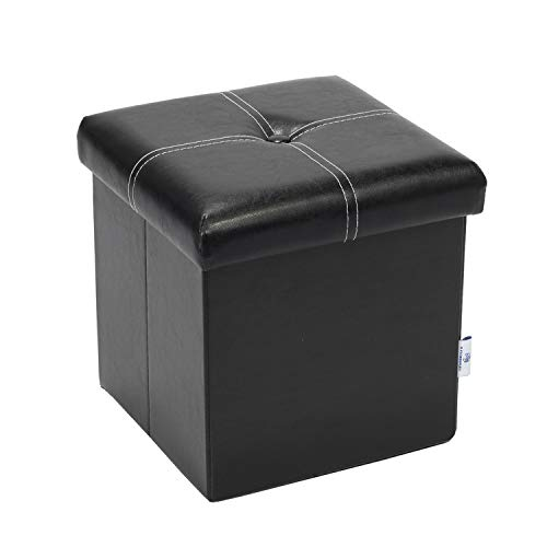 Black Leather Ottomans Storage Coffee Table Etc