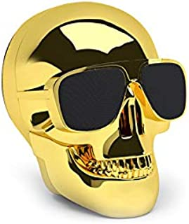 Jarre AeroSkull Nano Bluetooth Speaker for Smartphones, Chrome Gold - ML80112