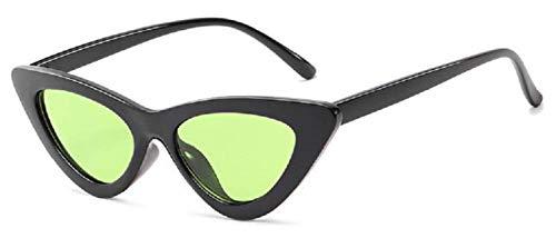 KIRALOVE Gafas de sol mujer gato - mariposa - vintage - niña - retro - moda - polarized uv400 - montura negra - lentes verdes