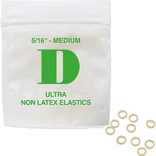 Patientenshop Intraorale Elastics latexfrei, Grün D, Medium 3,5 oz, Durchmesser 7,9 mm, 100 Stk Zahnspangen Gummis