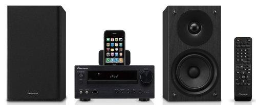 Pioneer X-HM50-K Kompaktanlage (CD/MP3-Player, FM mit RDS, Apple iPod Dock,100 Watt, USB 2.0) schwarz