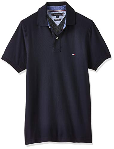 Tommy Hilfiger Herren CORE Hilfiger Slim Polo Poloshirt, Blau (Sky Captain 403), Medium