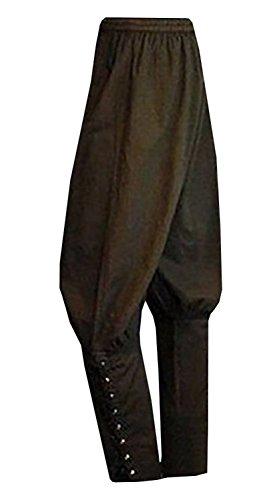Meilidress Men's Ankle Banded Pants Medieval Viking Navigator Trousers...