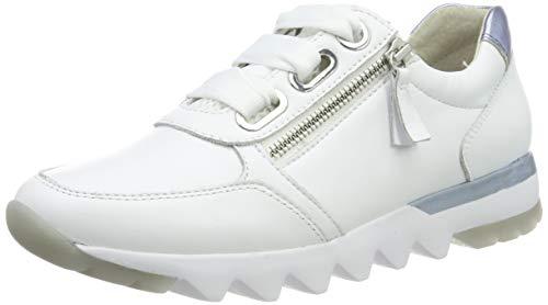 Gabor Shoes Comfort Basic, Zapatillas para Mujer, Blanco (WeissAzur 50), 42.5 EU