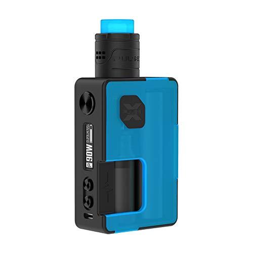 Original Vandyvape Pulse X BF Kit, E Zigarette Akku 90W Pulse X RDA 8ml mit Squonk-Flasche 18650 Batterie Adapter-Ohne Nikotin Ohne Tabak (Frosted Cyan)