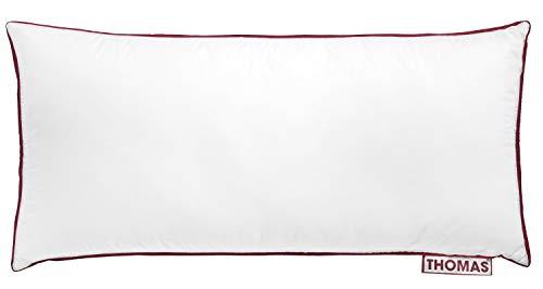 Thomas das Kissen hochwertiges Duo Kopfkissen für alle Schlaftypen, 100% Baumwolle, 40 x 80 cm, weiß