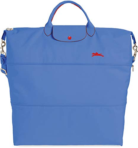 Longchamp Women's Le Pliage 21-Inch Expandable Nylon Travel Bag Handbag Myosotis Blue