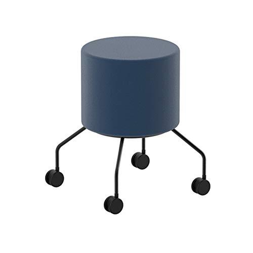 LINPAN Escabel Apósito de heces en Las Ruedas utilizados en la Sala de Estar y el Pasillo para Sala de Estar y Dormitorio Silla (Color : Blue, Size : 36x36x45cm)
