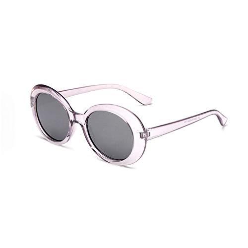 YTYASO Gafas de Sol de Espejo Redondas de Moda Gafas de Sol de Gran tamaño para Mujer Gafas de Sol Grandes para Mujer