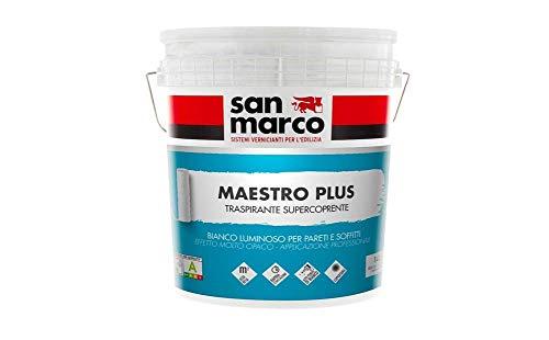 Maestro Plus Idropittura Traspirante Supercoprente Per Interni Rapida Essiccazione (14 LT)