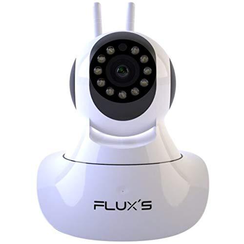 Camara IP WIFI de Interior FLUX'S Cámara de vigilancia Wifi FHD 1080p, con Vision Nocturna, Detección de Movimiento, Audio Bidireccional, Seguridad para Mascotas y Bebés, Compatible Con IOS y Android