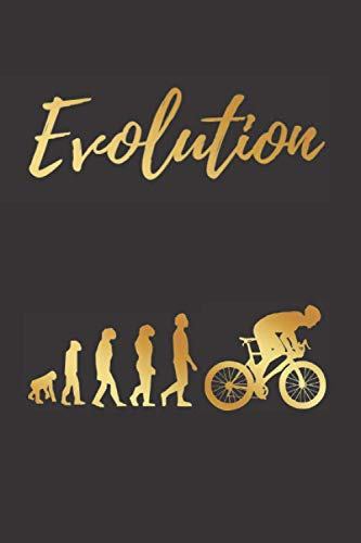 EVOLUTION: BLANK LINED NOTEBOOK | Notepad, Journal, Personal Diary | GIFTS FOR CYCLING LOVERS.
