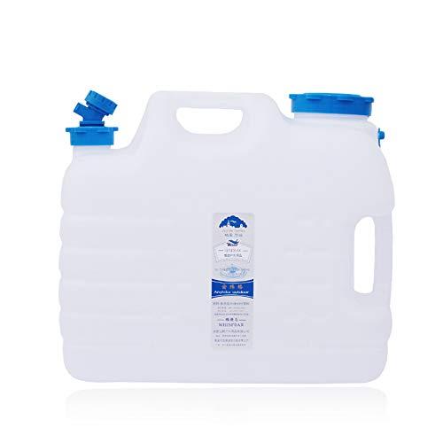 YXYXX Bidón Tanque De Agua, El diámetro de la Tapa es de 9 cm, que se Utiliza para Acampar al Aire Libre o para Contenedores de Agua/Blanco / 11L