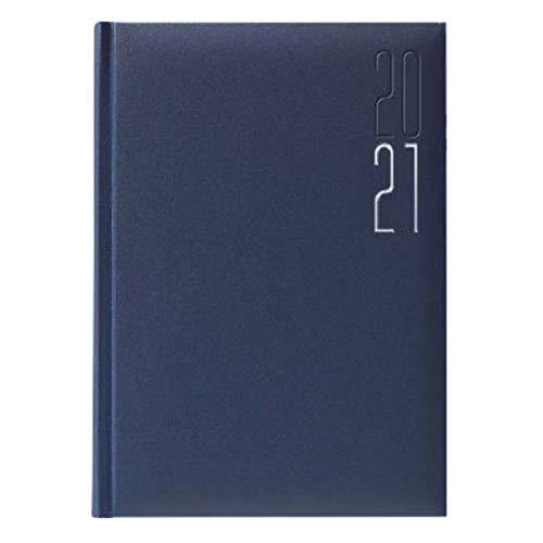 Idena 10906 - Buchkalender 2021, DIN A5, aus FSC-Mix, Matra blau, 1 Stück
