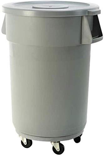 Vuilnis afvalcontainers/vuilnisbakken ronden met deksel op wielen, commerciële, 9,8Gal / 20gal / 31,7Gal - grijs papier manden (grootte: 120L), Grootte: 76L