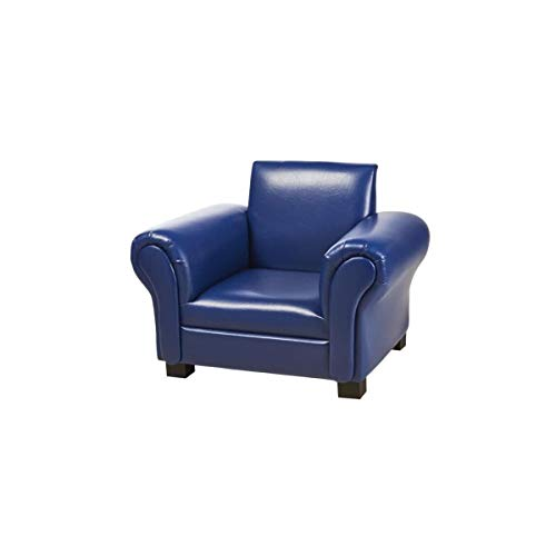 Générique Fauteuil Club, Bois, Bleu, 58 x 43 x 45 h