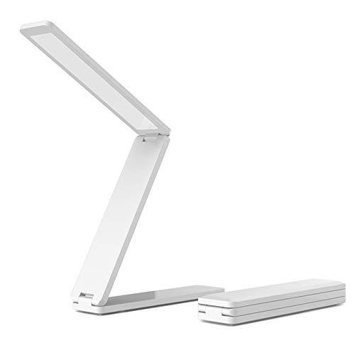 LED Tischlampe faltbar, Klappbare Tischlampe Mini Buchlampe Arbeitslampe AAA Skku Nachttisch Leselampe dimmbar USB Ladekabel Energiesparende Schreibtischlampe Faltlampe