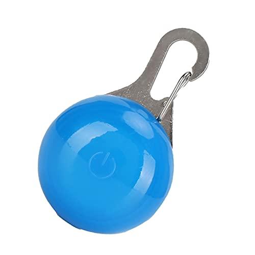 Colgante para mascotas brillante, tres modos de intermitencia, collares de perro iluminados, diseño ligero para perros cuadrados (azul)