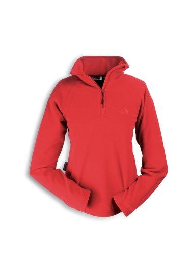 Tatonka Essential Ituna Pullover en Tissu Polaire pour Femme, avec col à Demi-Fermeture éclair, Rouge Cerise, Femme, 8663.717, Rouge Cerise, 40