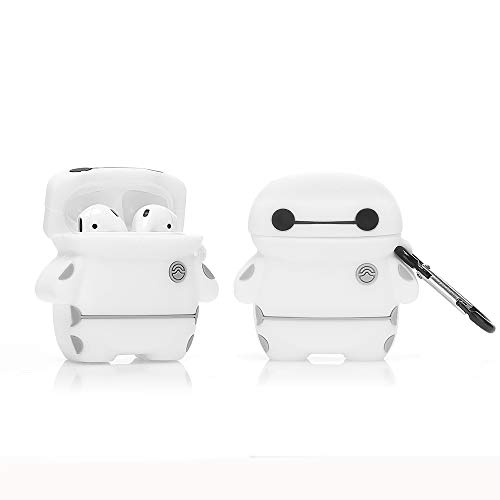 LEWOTE Airpods Silicone Case Funny Cover Compatible for Apple Airpods 1&2[3D Cartoon Design][Best Gift for Girls Boys] (Baymax)