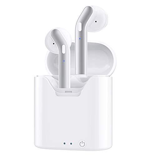 Wireless Earbuds, Bluetooth 5.0 HiFi Bass Stereo in Ear Headphones, Bluetooth Earbuds with Charging Case, Mini Sweatproof Wireless Earbuds w/Mic Single/Twin Mode