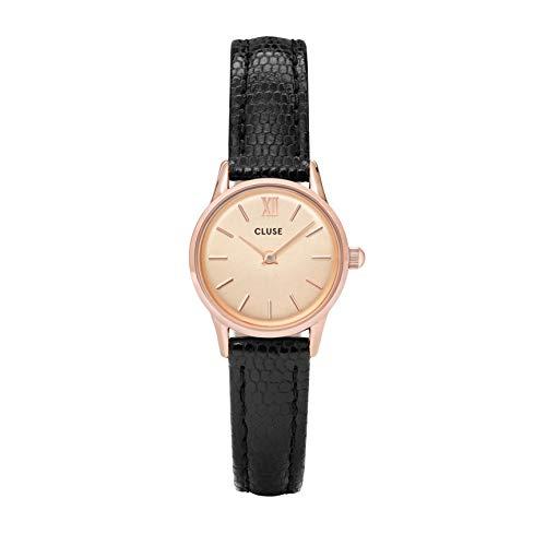 Cluse Damen Analog Quarz Uhr mit Leder Armband CL50028