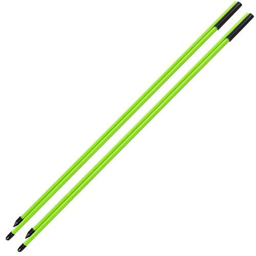 VGEBY 2 Abschnitte Golf Direction Indicator Stick, Fiberglas Golf Alignment Sticks Golf Correcter Übungsstift(Grün)