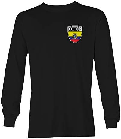 Haase Unlimited Ecuador Futbol Jersey Ecuadorian Soccer Unisex Long Sleeve Shirt Black X Large product image