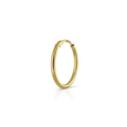 Piercing Oro de Ley Certificado. Mujer. Piercing ARO de 10 mm tubo 1.mm (1-5115-10)