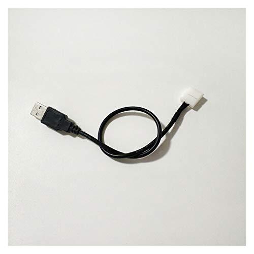 Xianggujie Cable USB al Conector de Tira de LED LED de Soldadura Libre (Color : 10mm 2pin)