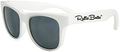 RuffleButts Baby Toddler Girls White Sunglasses 0 24m product image