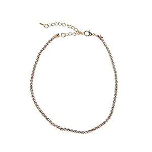 GREEN&RARE Gargantilla de cristal minimalista para mujer, diamantes de imitación, joyería de graduación, joyería de abalorios