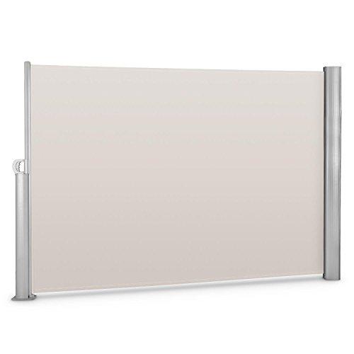blumfeldt Bari 320 - Seitenmarkise, Standmarkise, Seitenrollo, Sichtschutz, Sonnenschutz, Polyester 300 x 200 cm, wasserabweisend, UV-beständig, selbstspannend, pulverbeschichtet, Creme